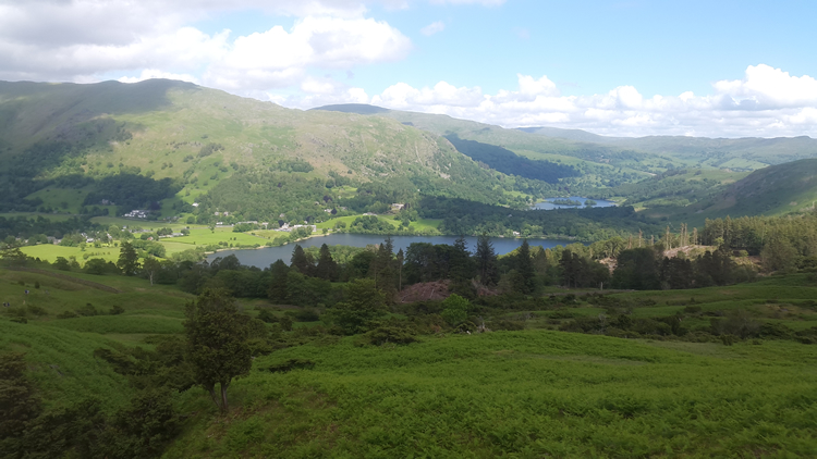 looking back towards grasmere & rydal water