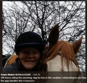 dawn nisbet horse riding