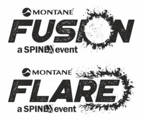 spine race fusion and flare logo